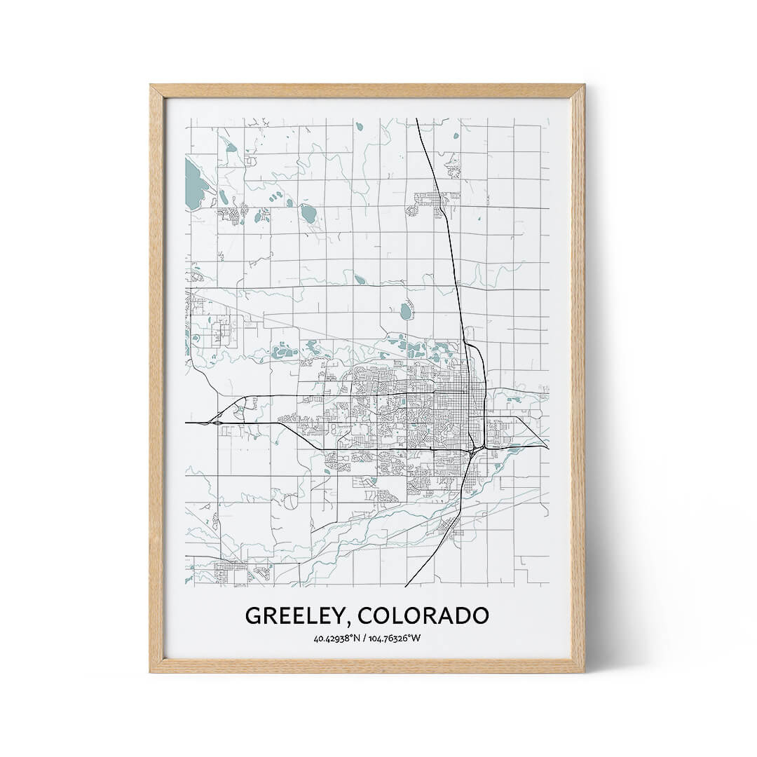 Greeley city map poster