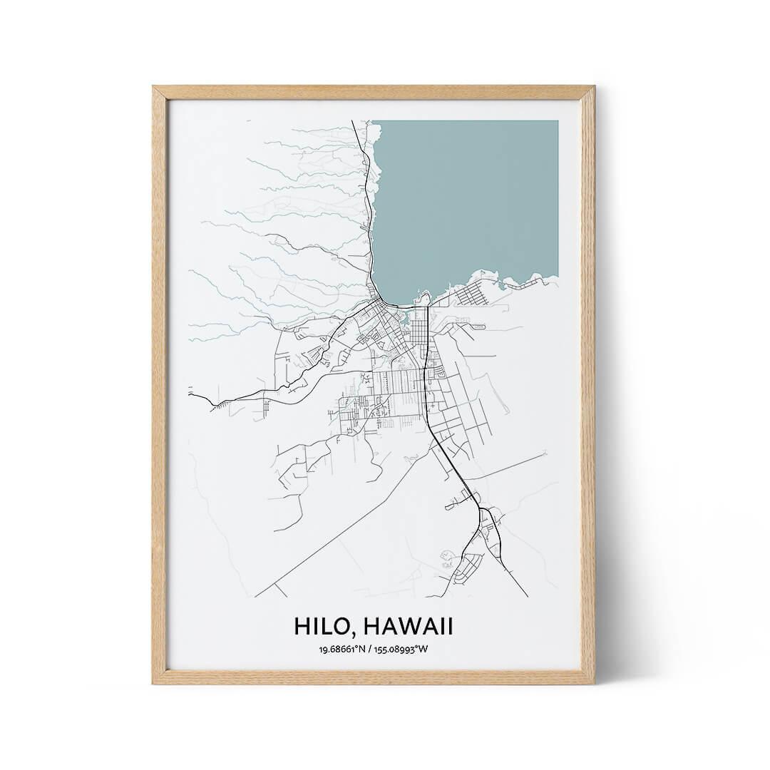 Hilo city map poster