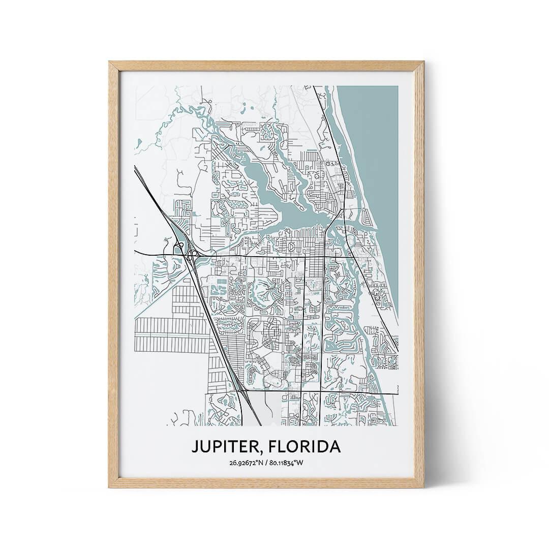 Jupiter city map poster