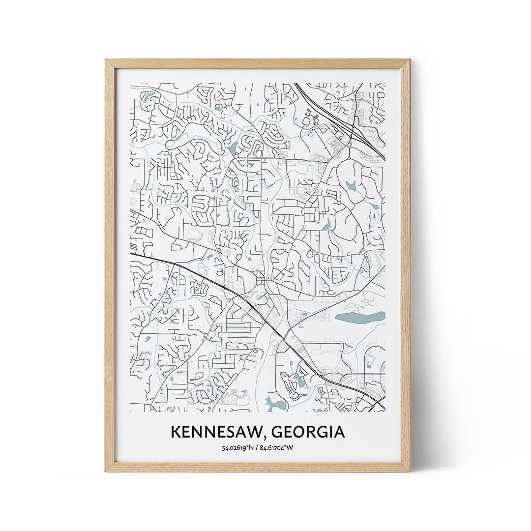 Kennesaw city map poster