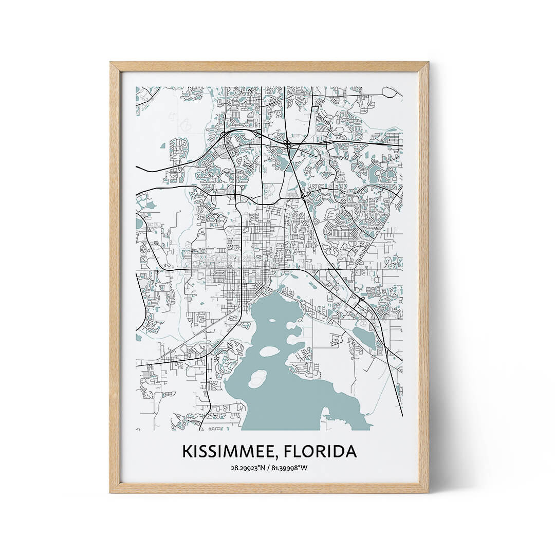 Kissimmee city map poster