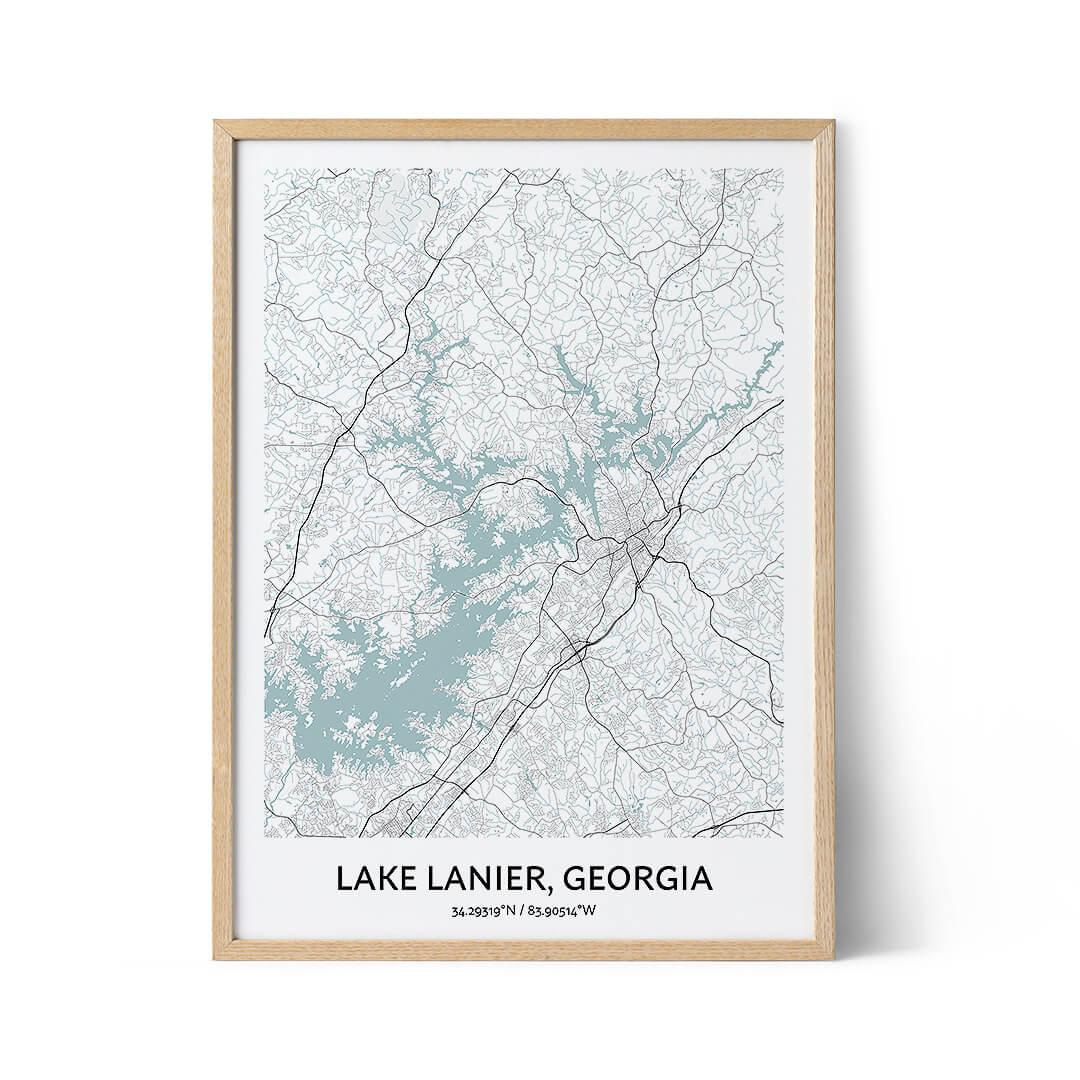 Lake Lanier city map poster