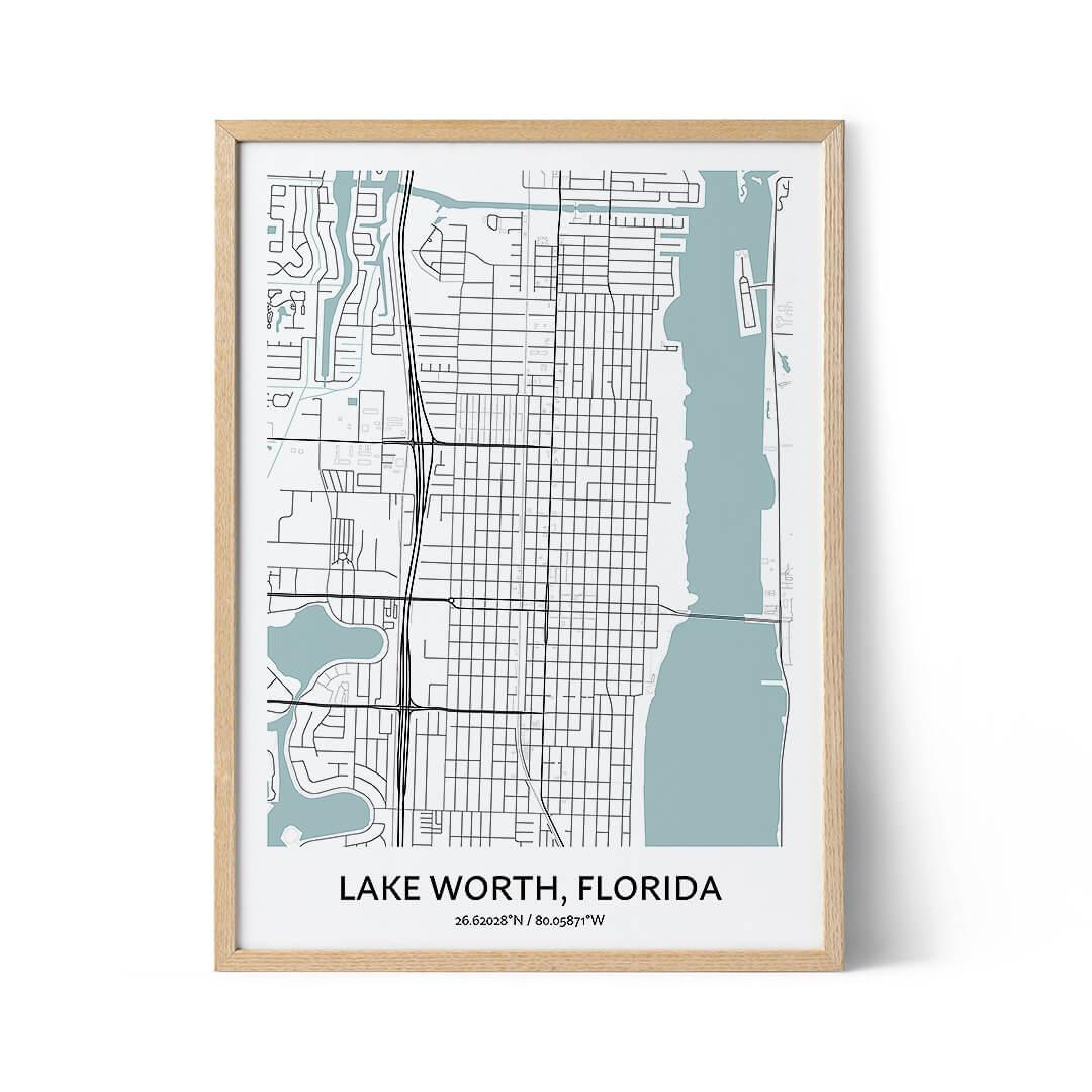 Lake Worth city map poster