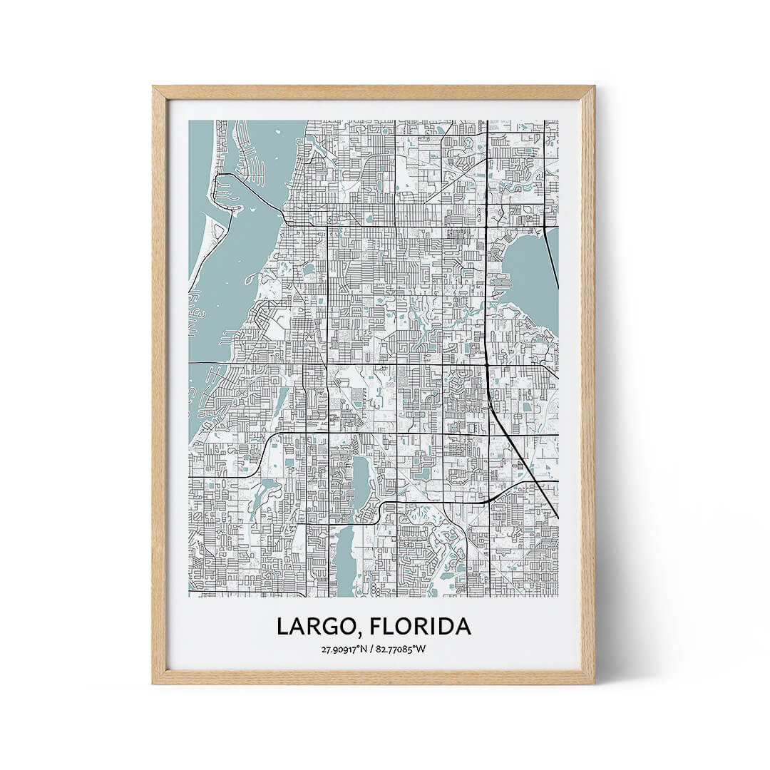 Largo city map poster