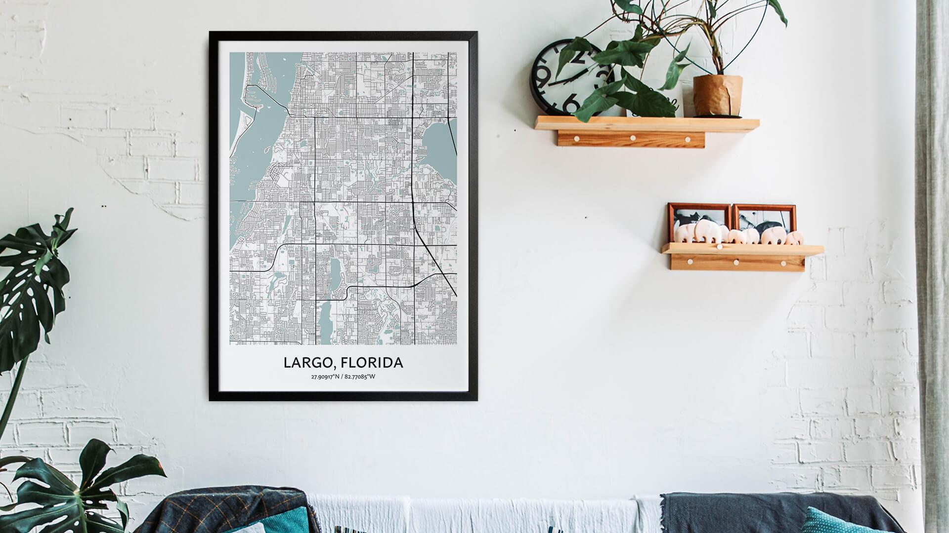 Largo map art