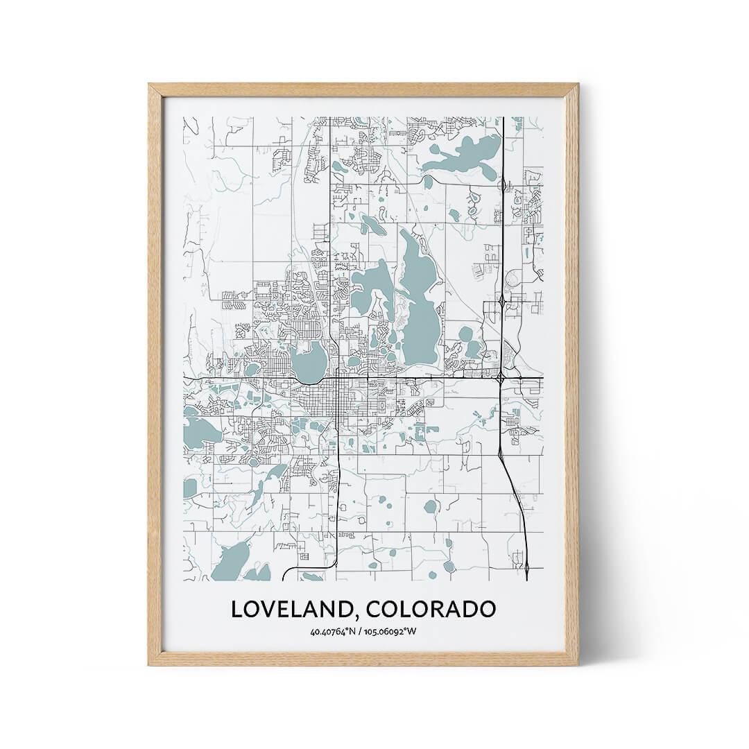Loveland city map poster
