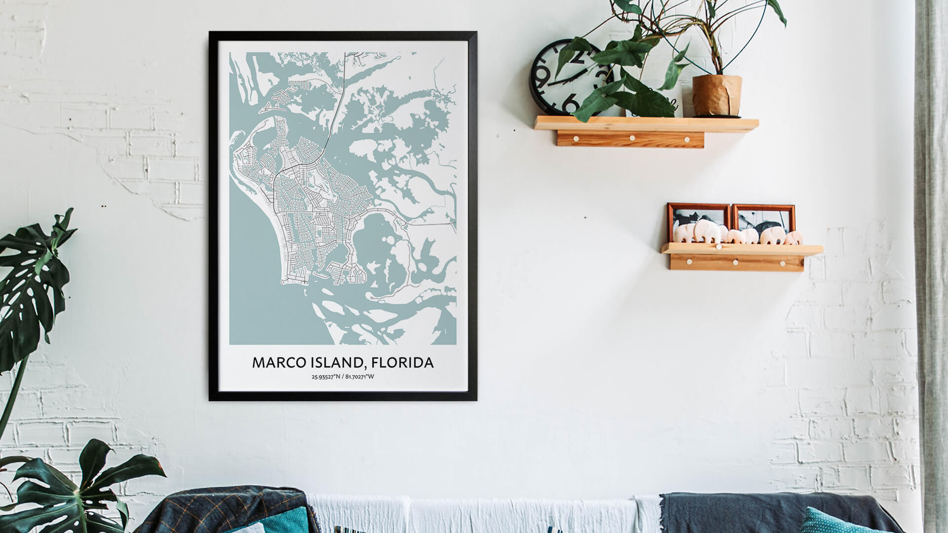 Marco Island map art