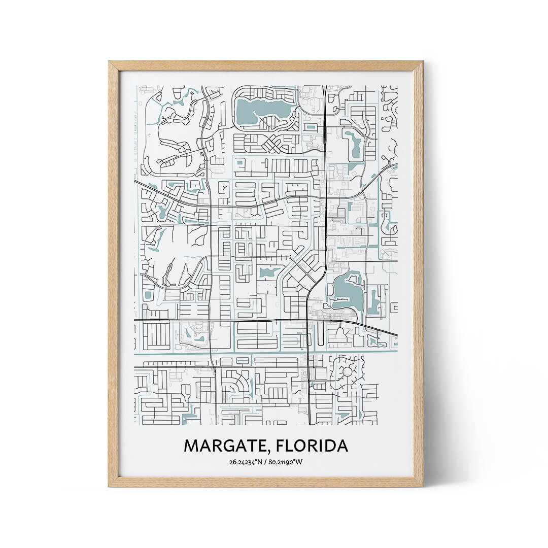Margate city map poster