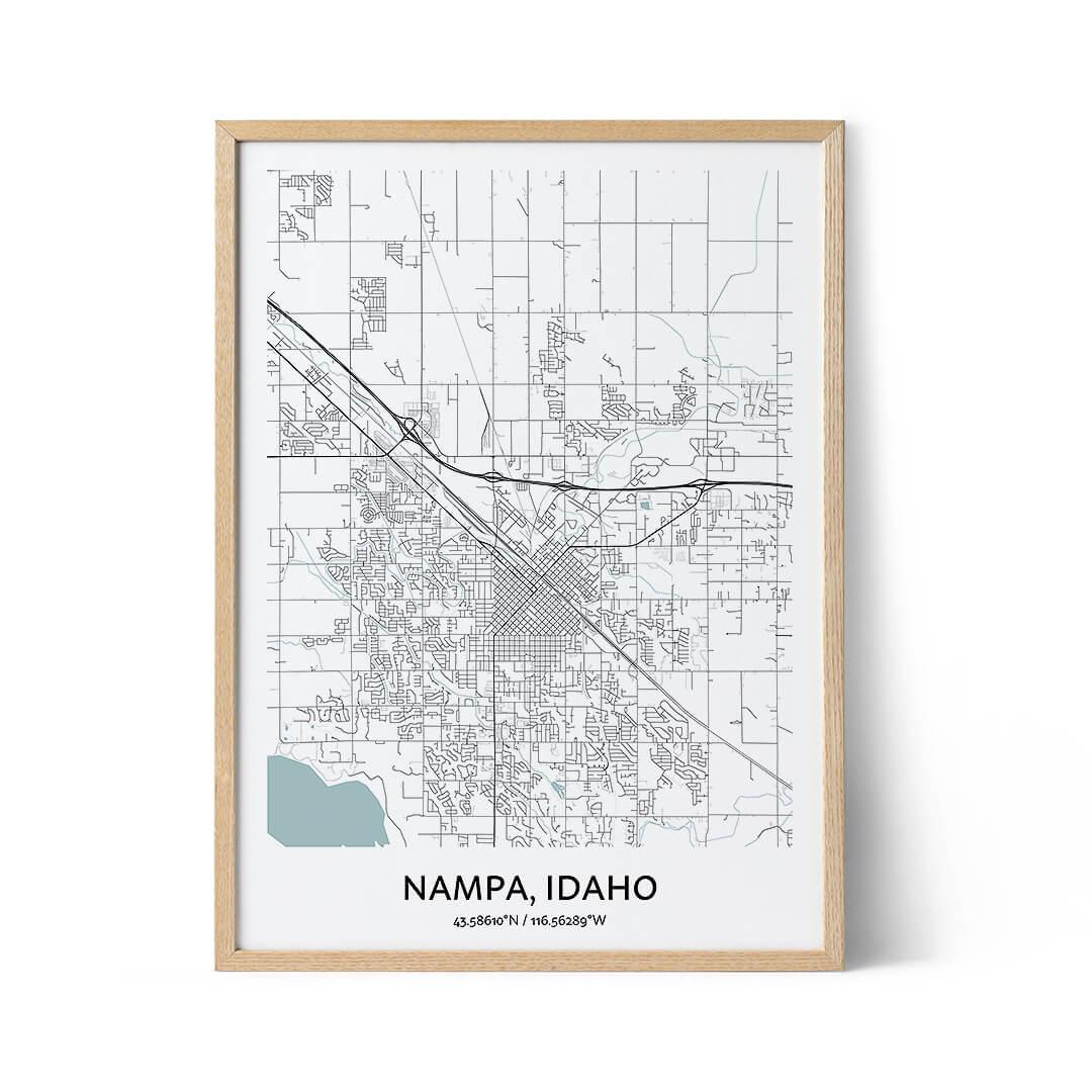 Nampa city map poster