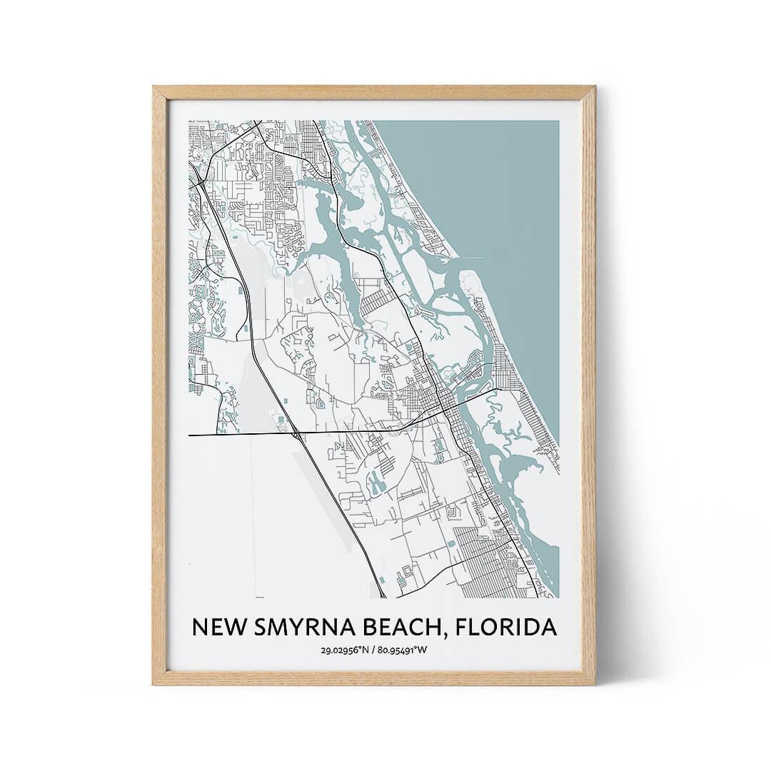 New Smyrna city map poster