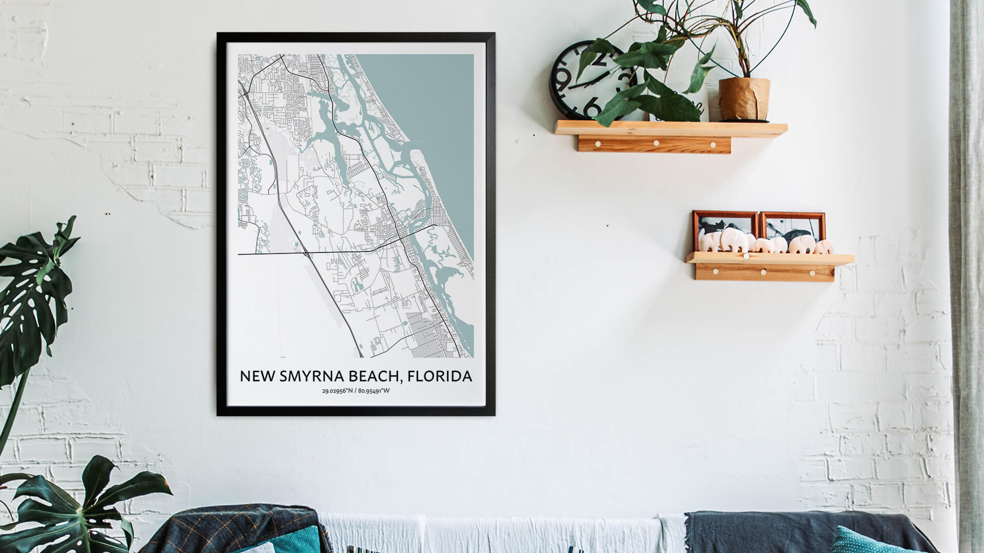 New Smyrna map art