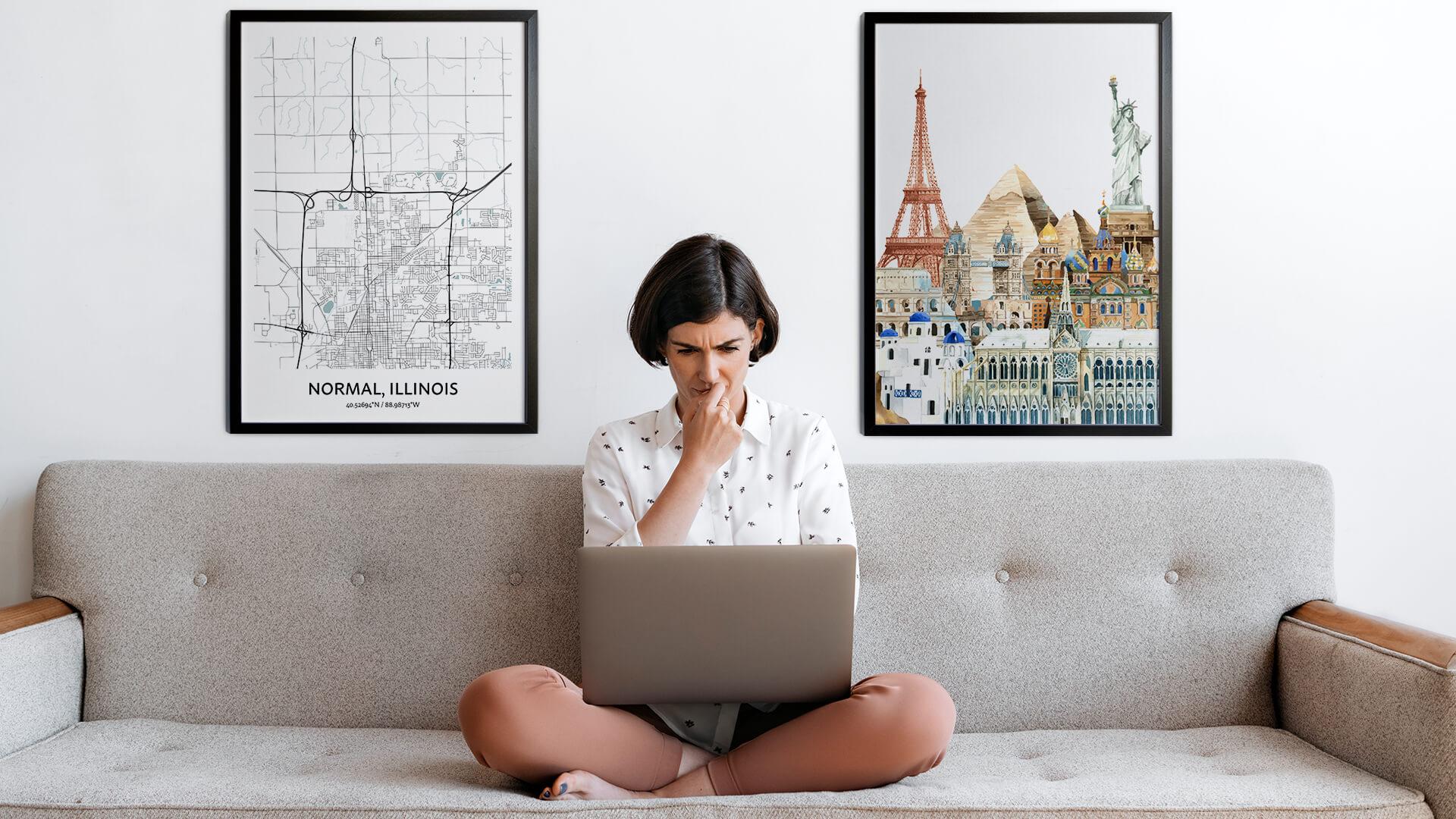 Normal city map art