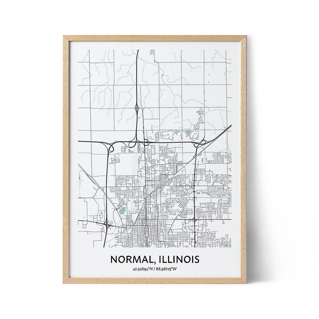 Normal city map poster