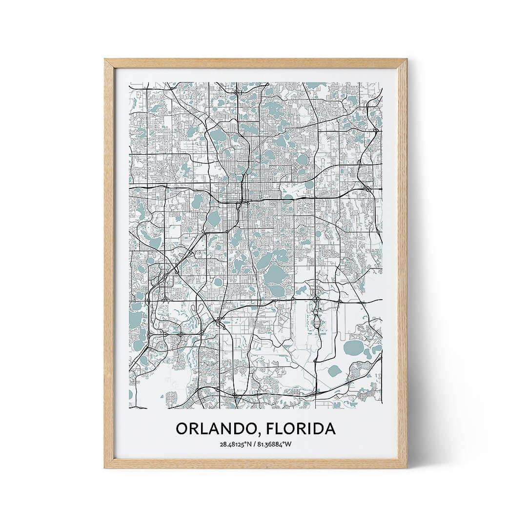 Orlando city map poster