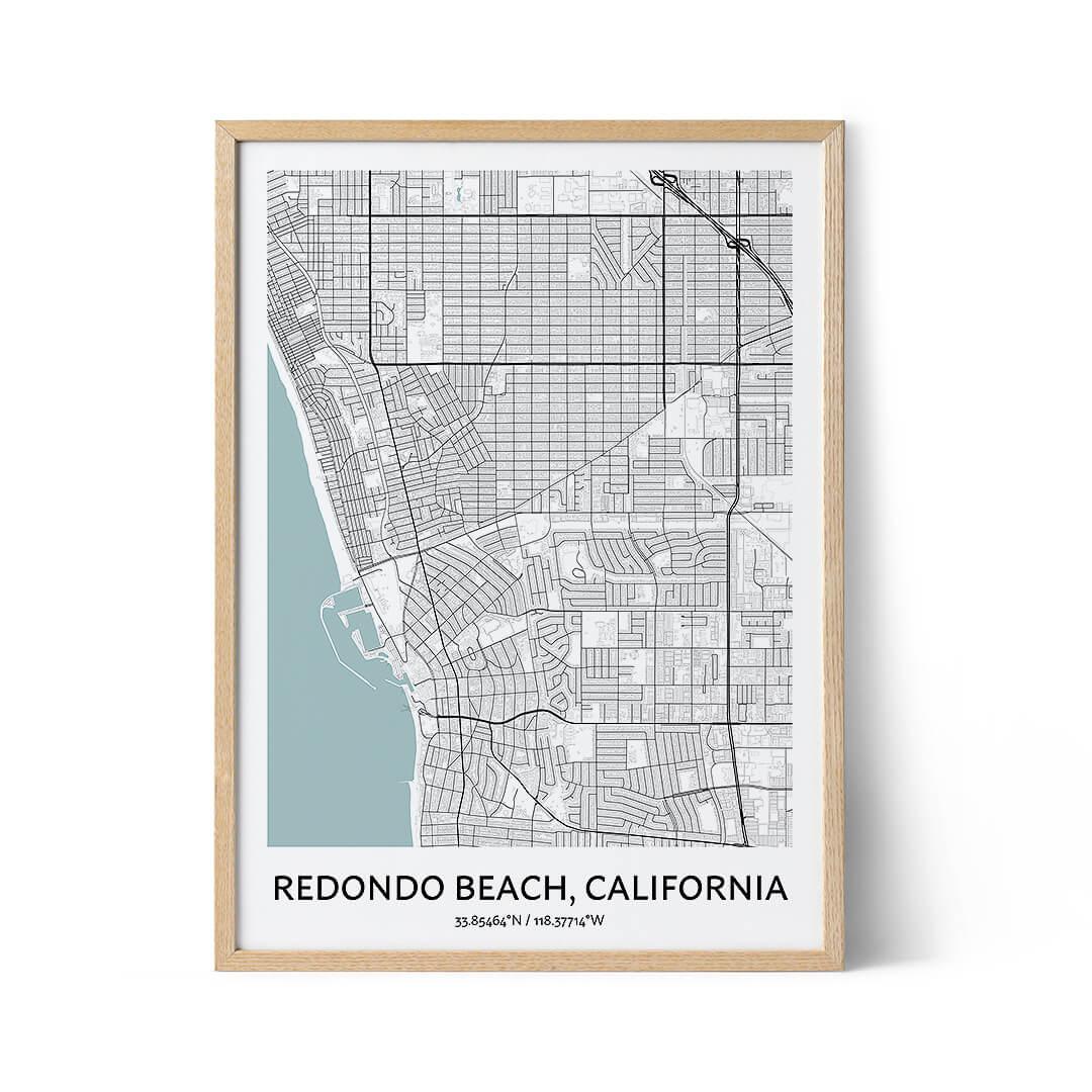 Redondo Beach city map poster