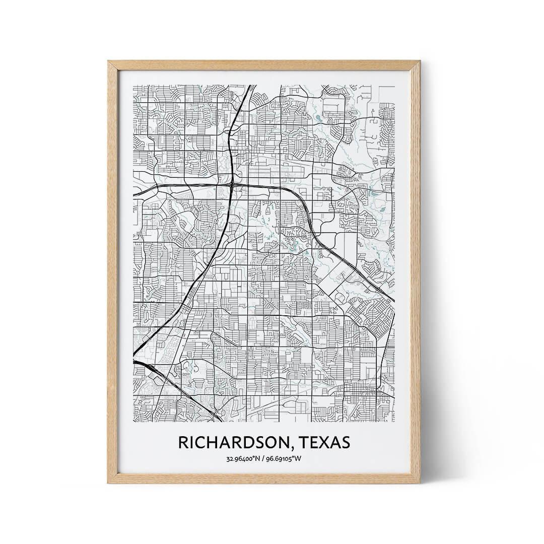 Richardson city map poster
