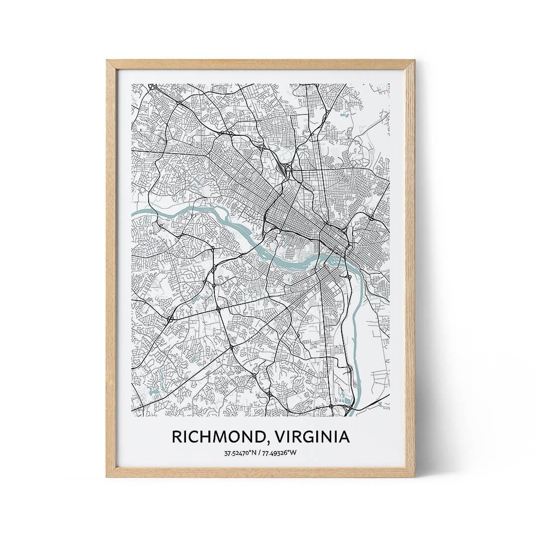 Richmond city map poster