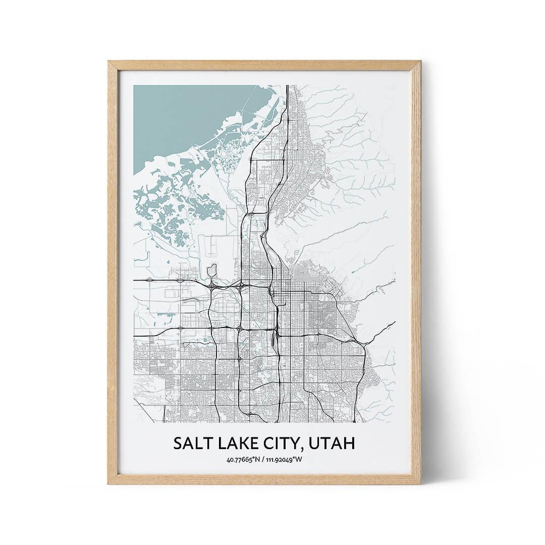 Salt Lake City city map poster
