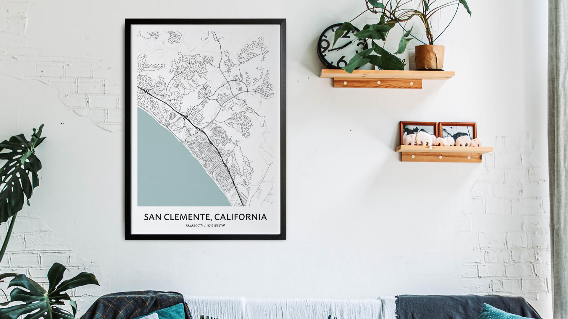 San Clemente map art