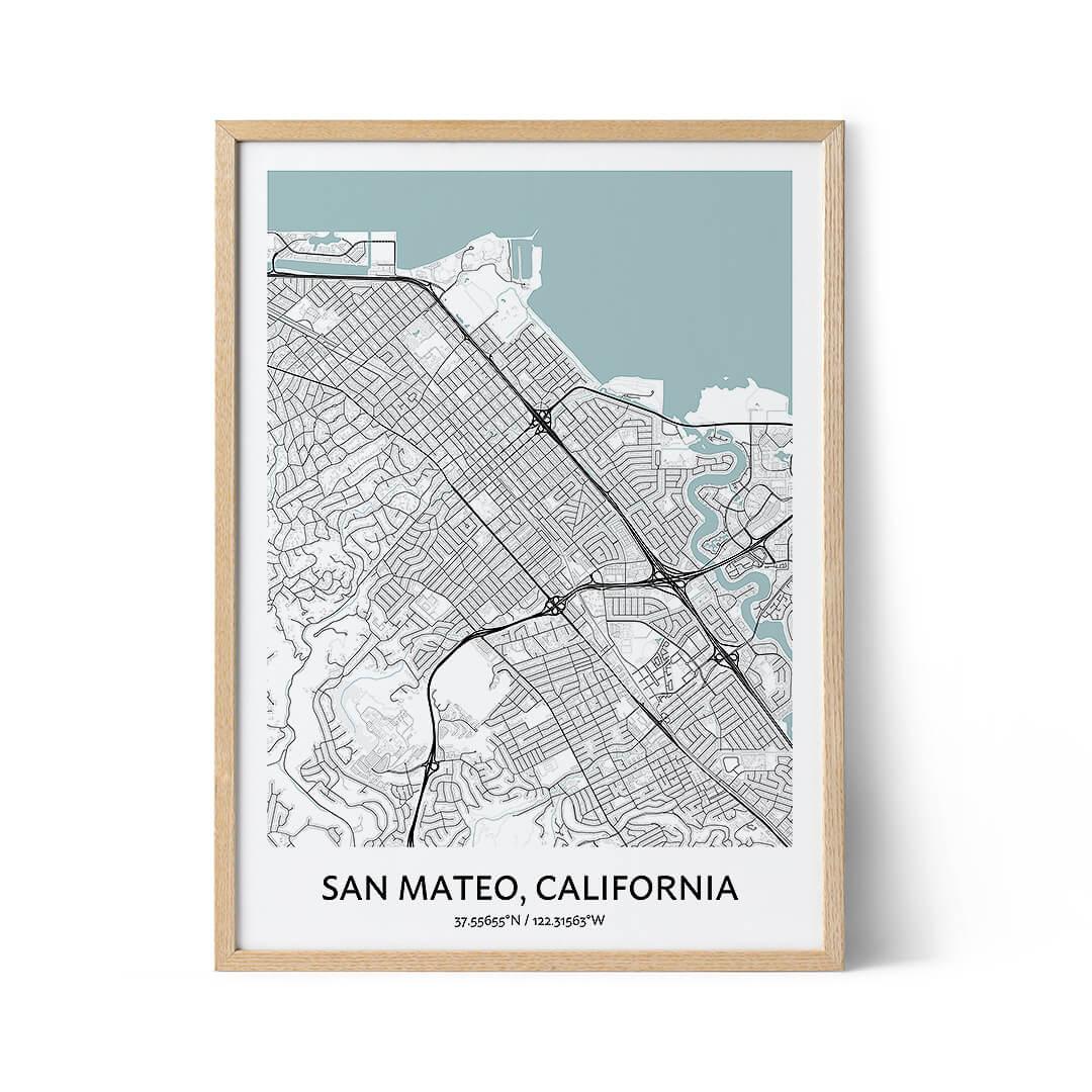 San Mateo city map poster