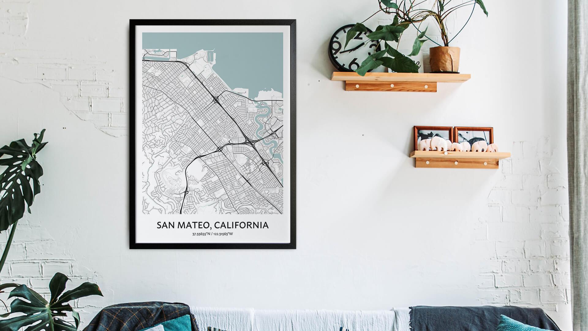 San Mateo map art