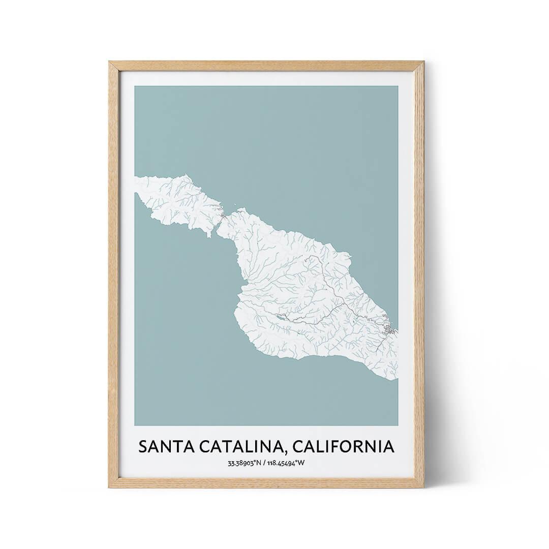 Santa Catalina city map poster