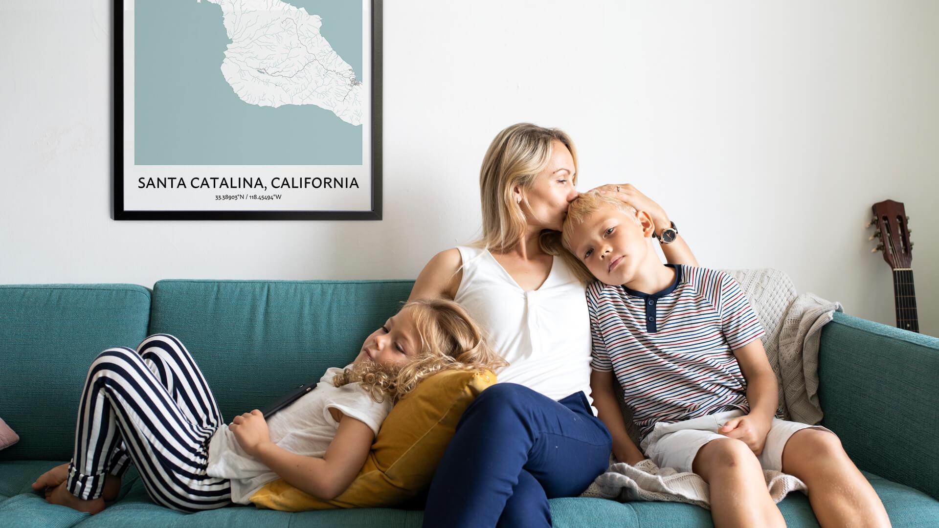 Santa Catalina map poster
