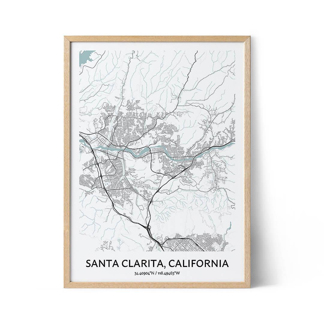 Santa Clarita city map poster