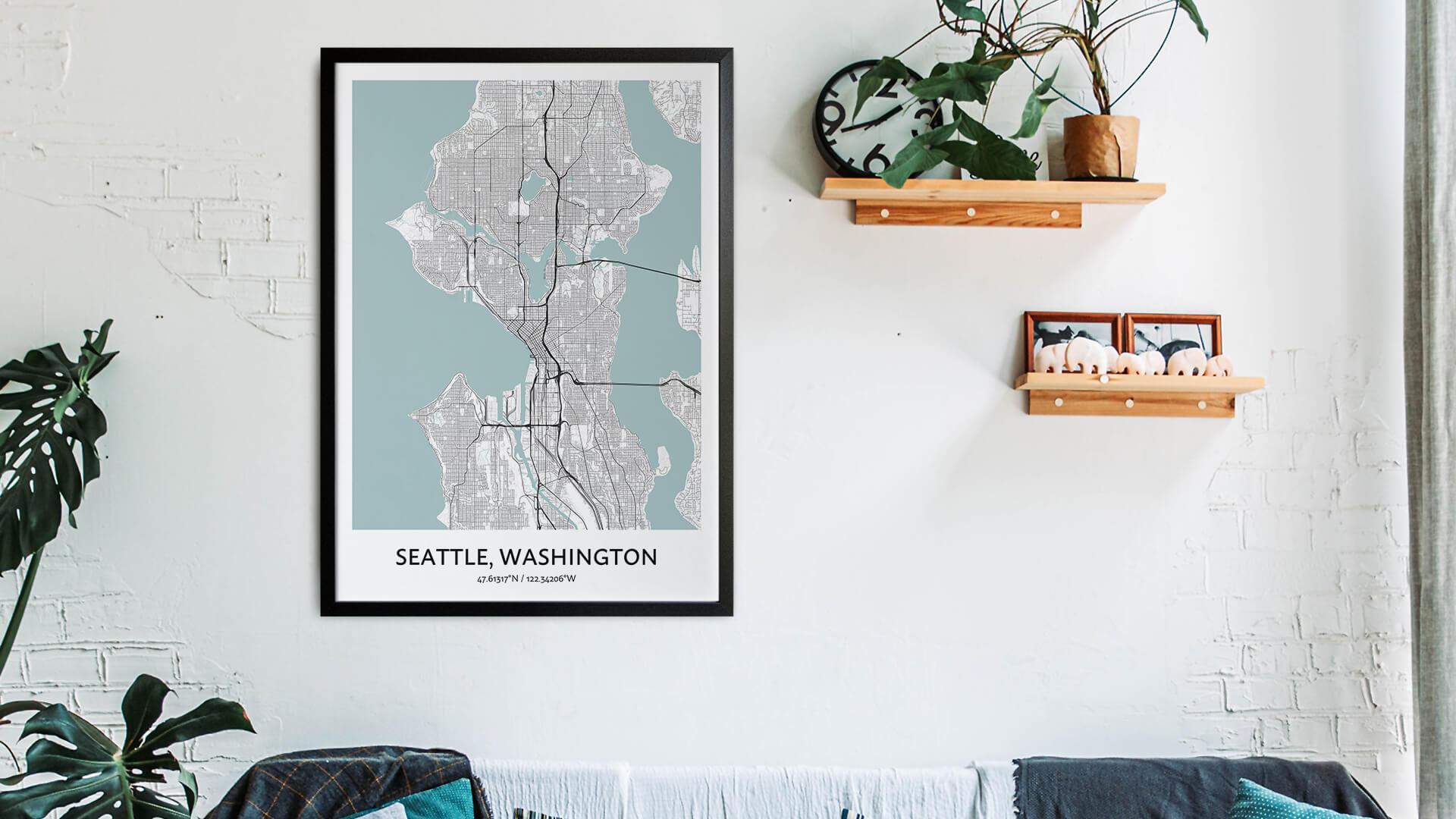 Seattle map art