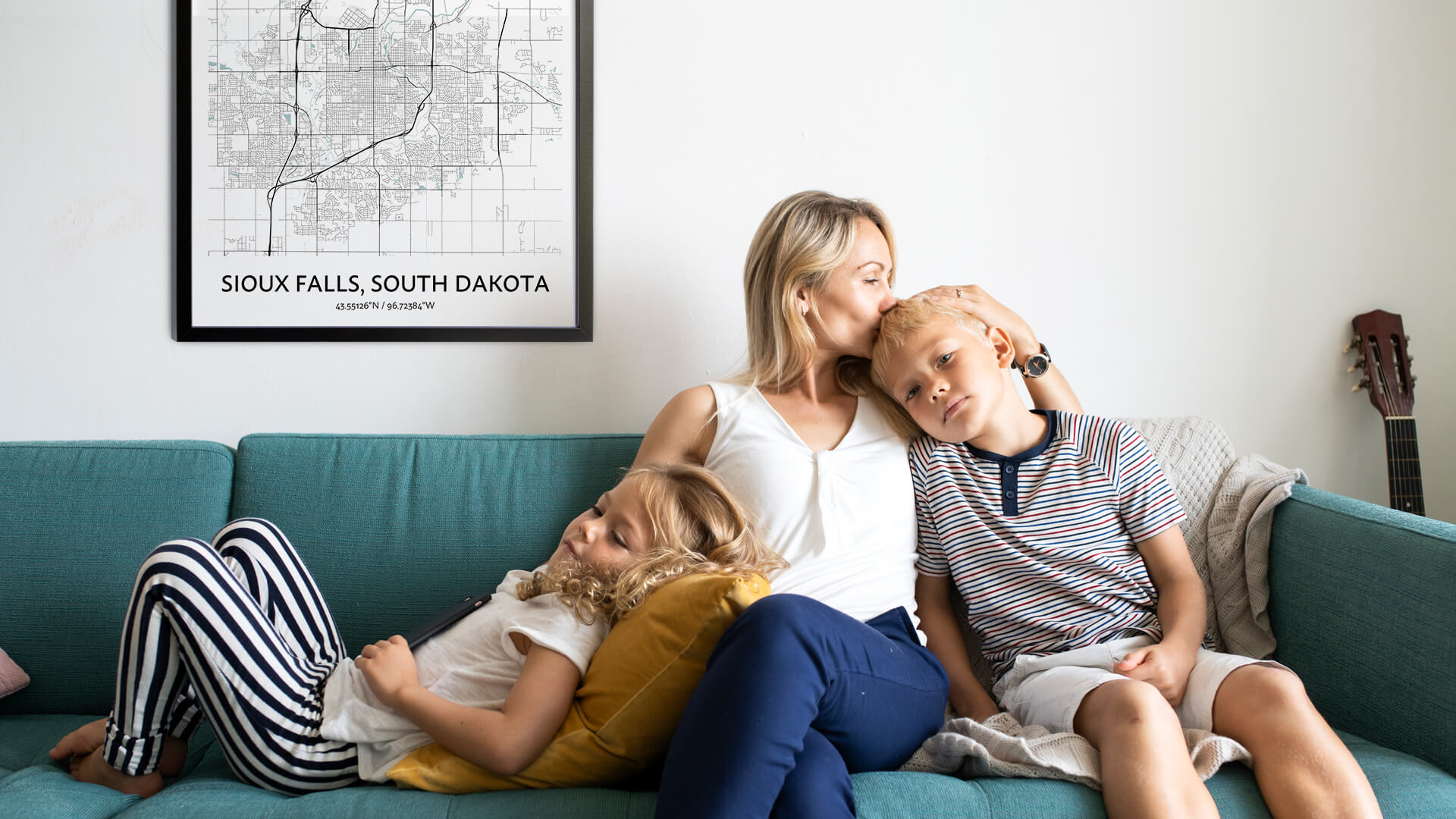 Sioux Falls map poster