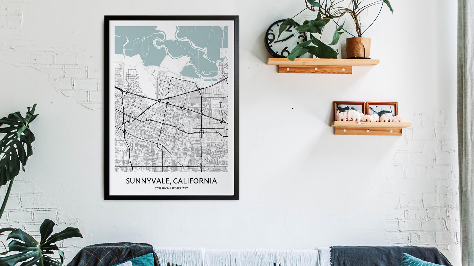 Sunnyvale map art