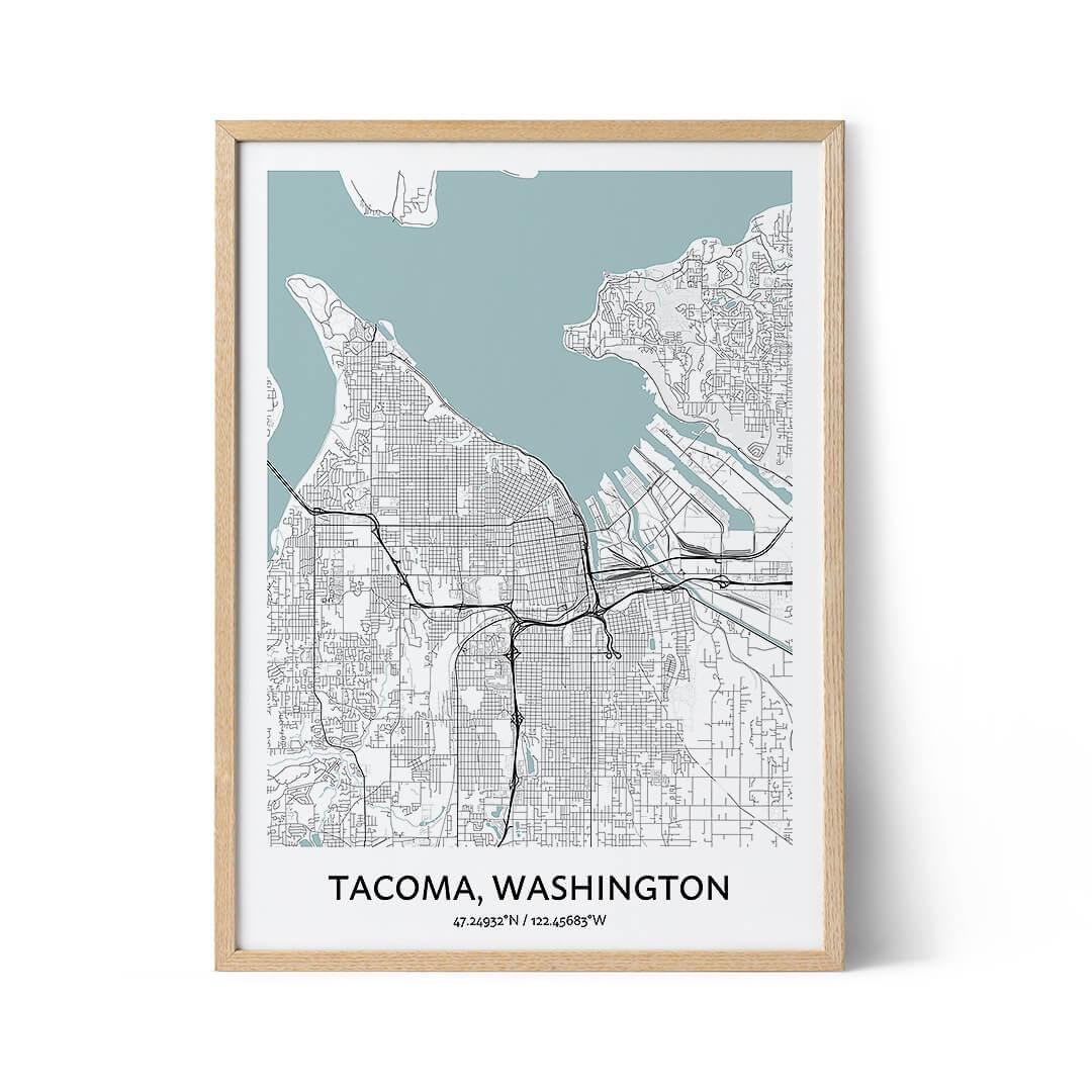 Tacoma city map poster