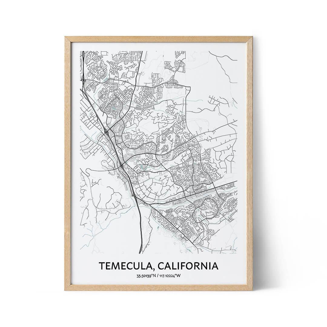 Temecula city map poster