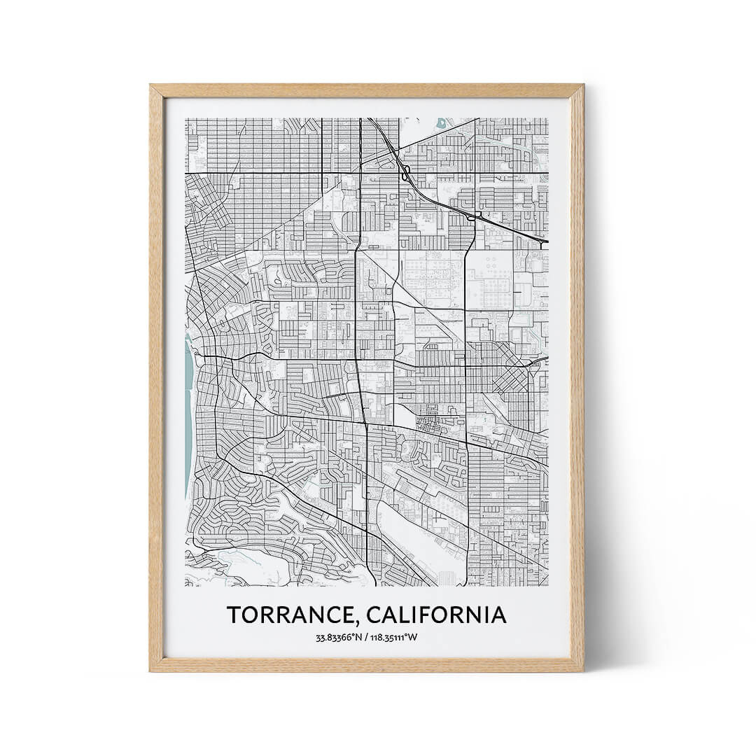 Torrance city map poster