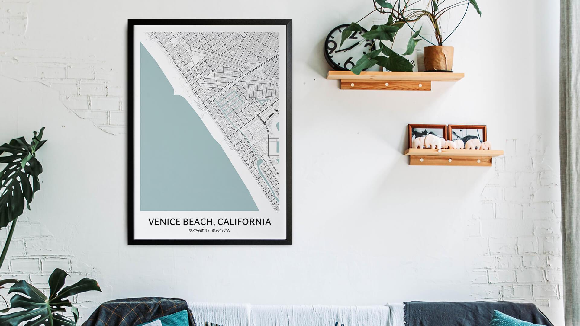 Venice Beach map art