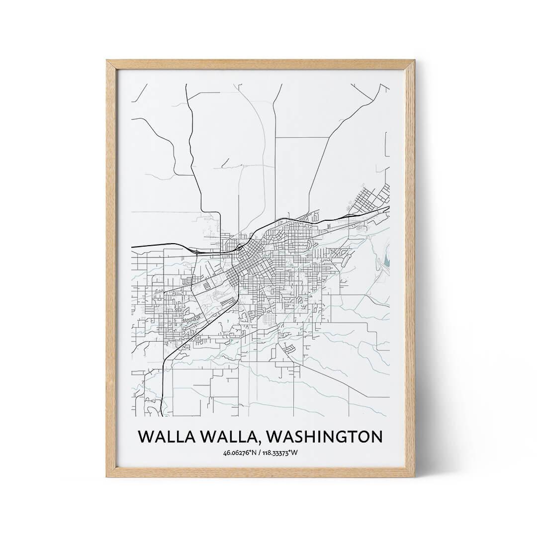 Walla Walla city map poster
