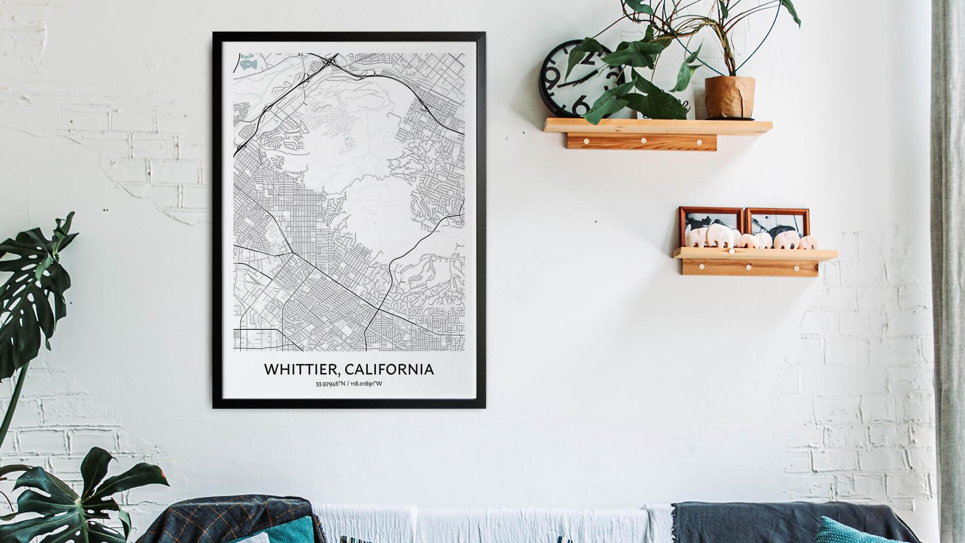 Whittier map art