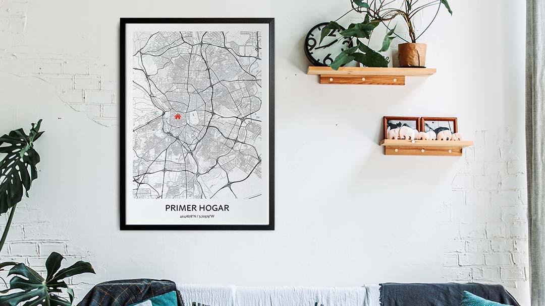 mapa del primer hogar poster