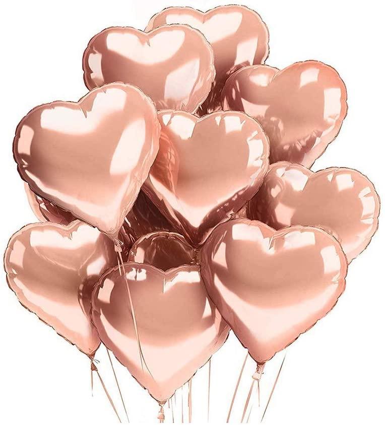 Heart-Shaped Foil Balloons