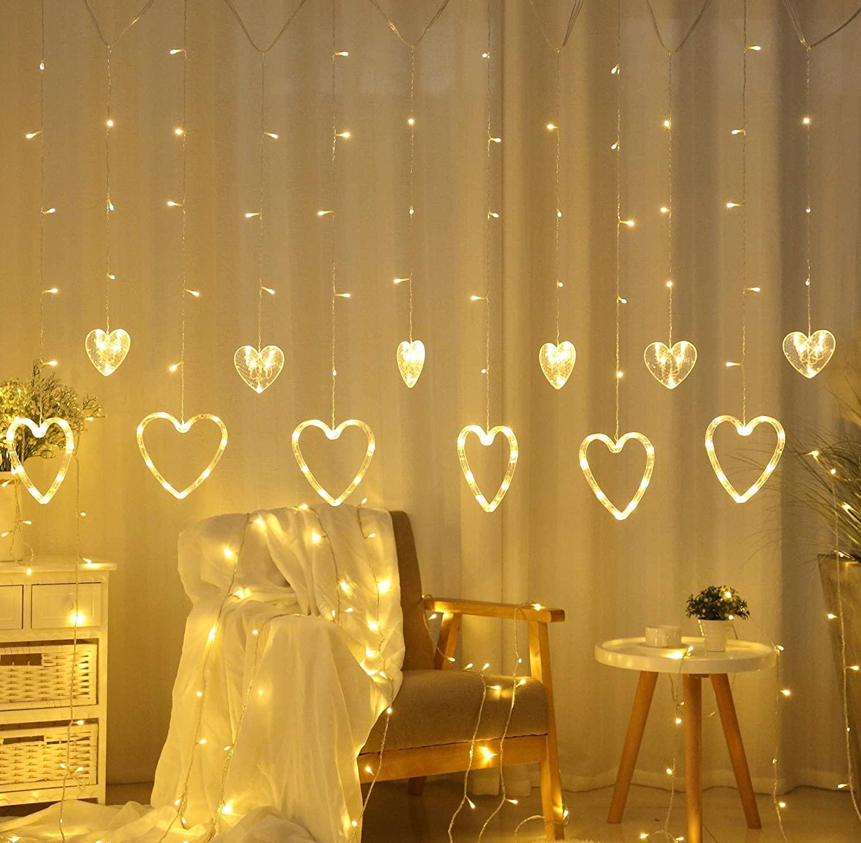 Curtain Light 138 LED Love
