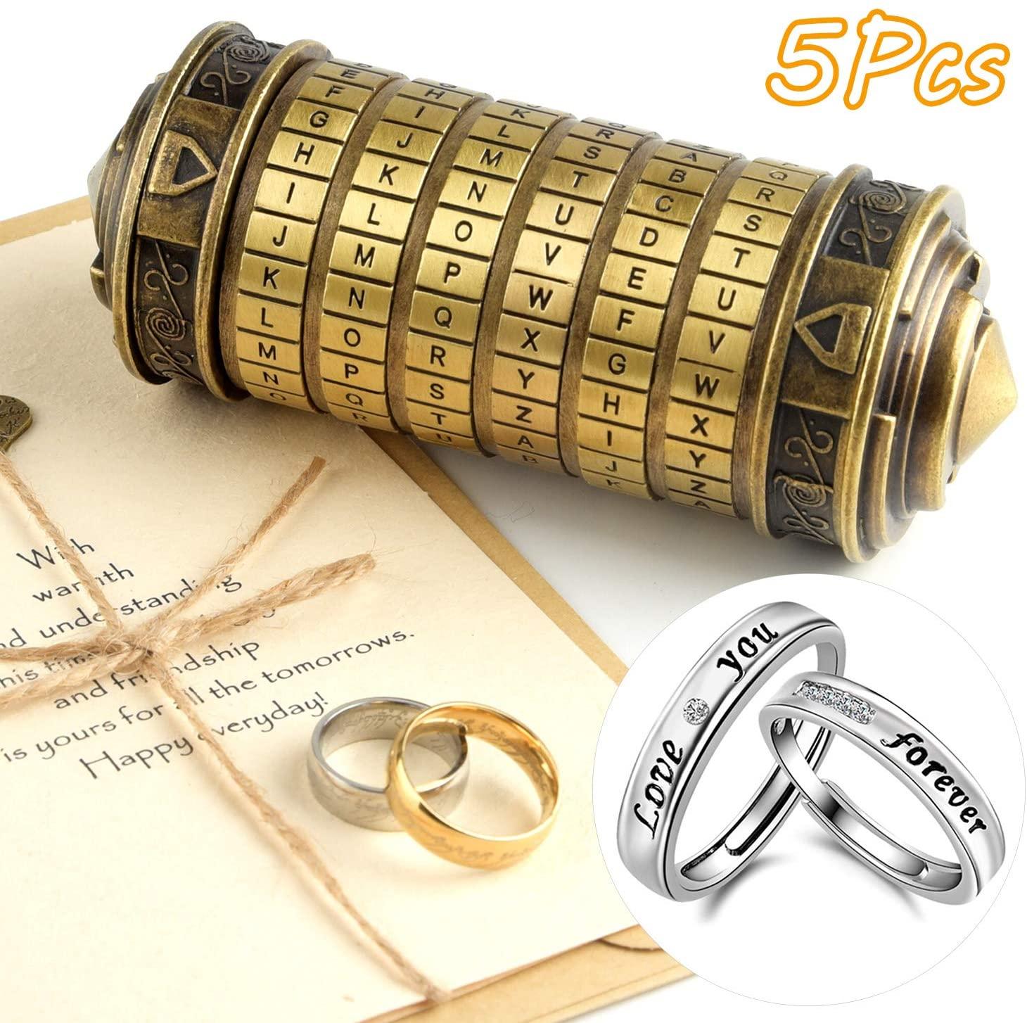 5-Pc Da Vinci Code Mini Cryptex