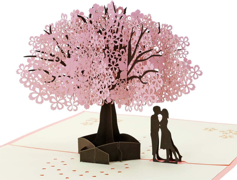 Handmade Cherry Blossom Card Pop Up 3D
