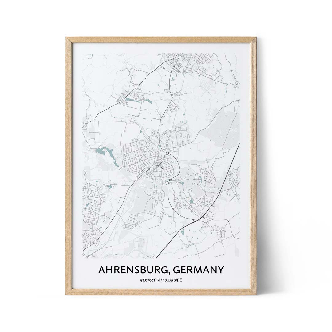 Ahrensburg city map poster