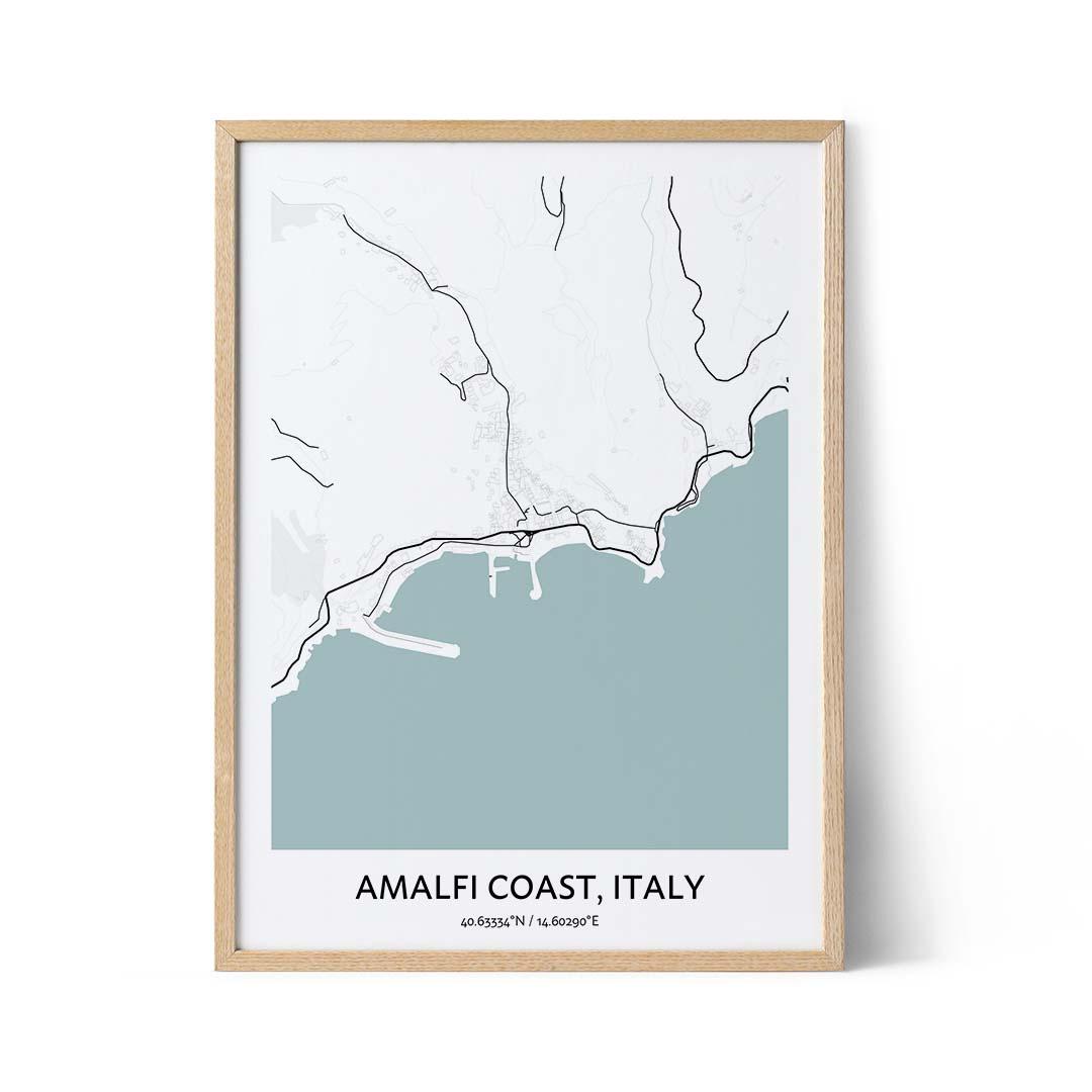 Amalfi Coast city map poster