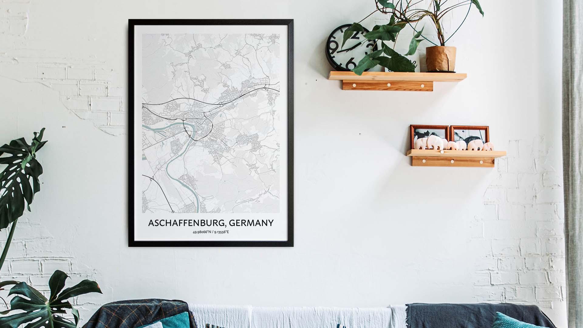 Aschaffenburg map art