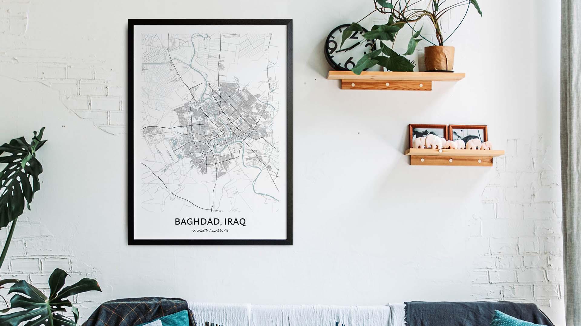 Baghdad map art