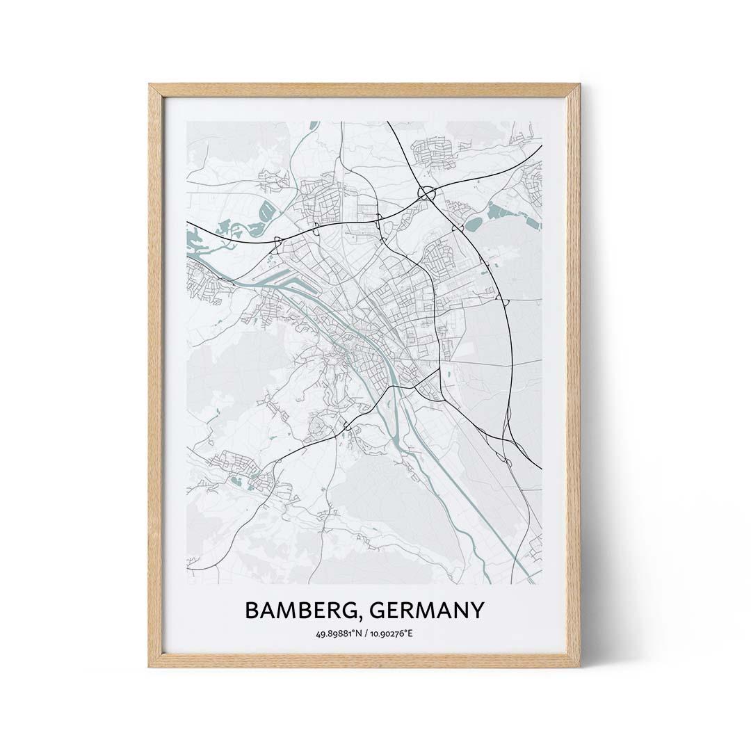 Bamberg city map poster