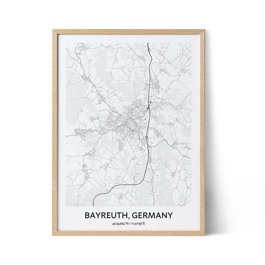 Bayreuth city map poster