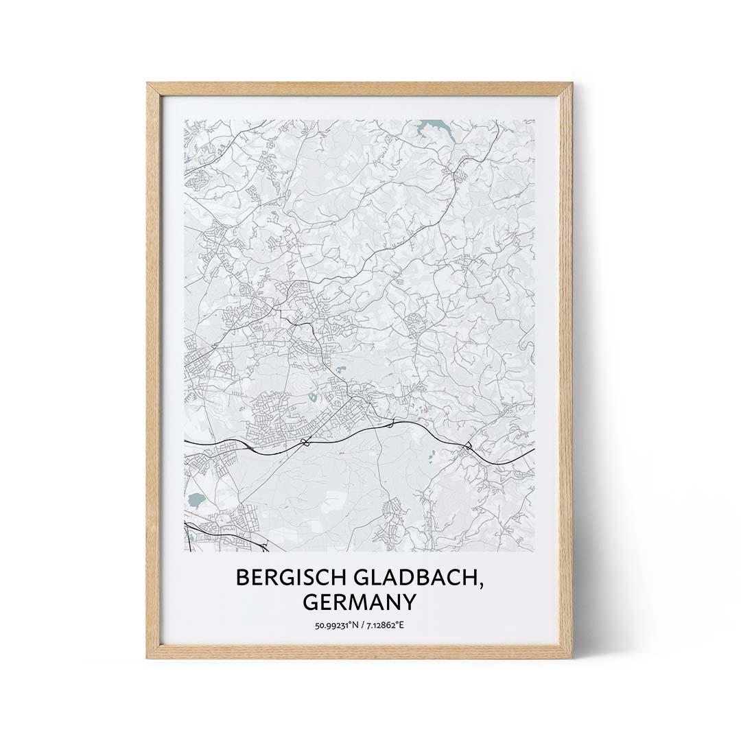 Bergisch Gladbach city map poster