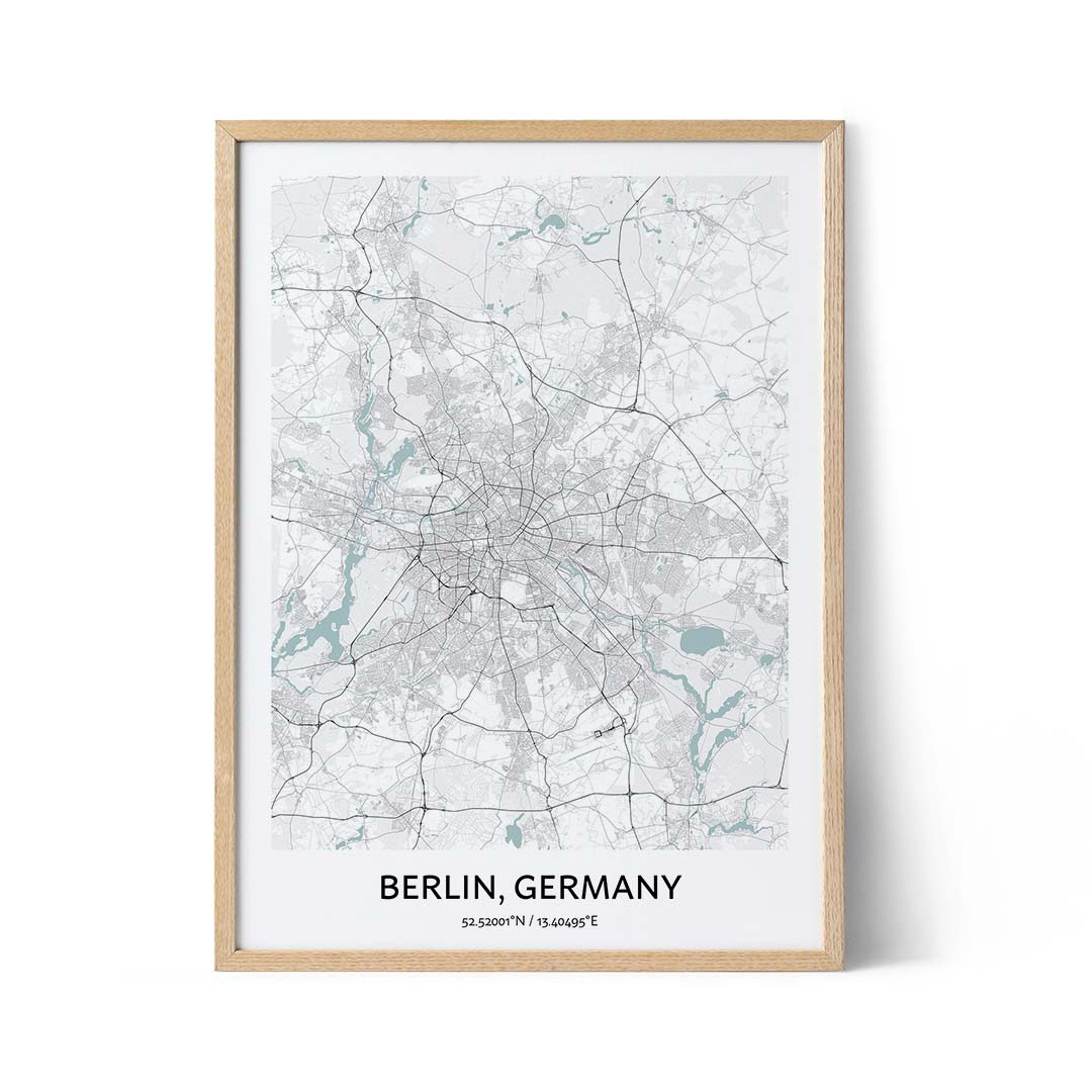 Berlin city map poster